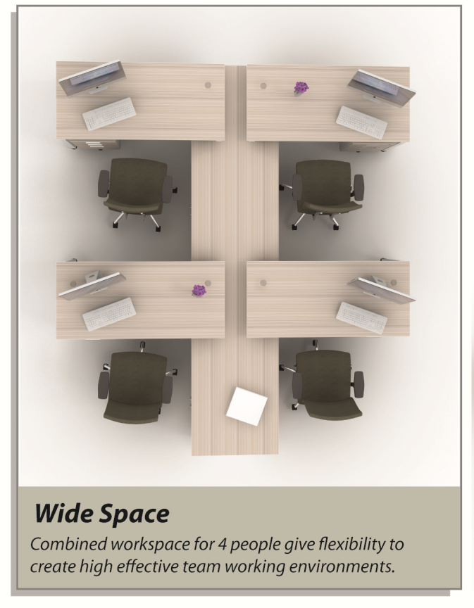 Office Table Wide Space Design